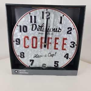 Wall clock by Home Trends Delicious coffee